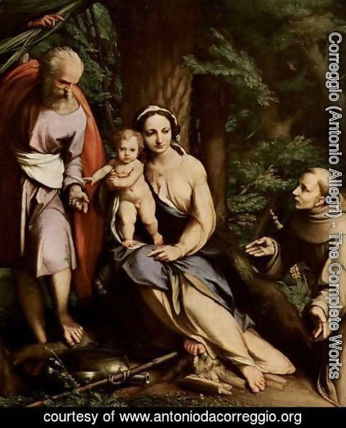 Correggio (Antonio Allegri) - Rest on the Flight into Egypt, c.1515