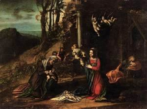 Correggio (Antonio Allegri) - Adoration of the Christ Child