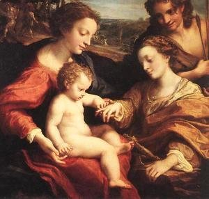Correggio (Antonio Allegri) - The Mystic Marriage of St. Catherine of Alexandria, c.1526-27