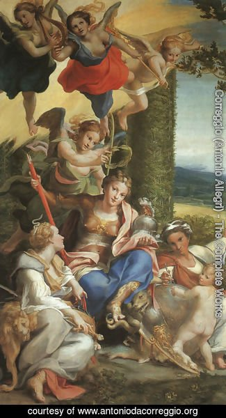 Correggio (Antonio Allegri) - Allegory of the Virtues, c.1529-30