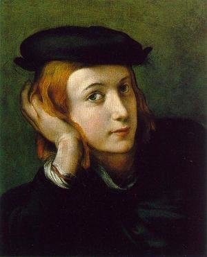 Correggio (Antonio Allegri) - Portrait of a Young Man