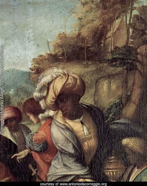 Adoration of the Shepherds (The Night), detail, Maria and child (2)