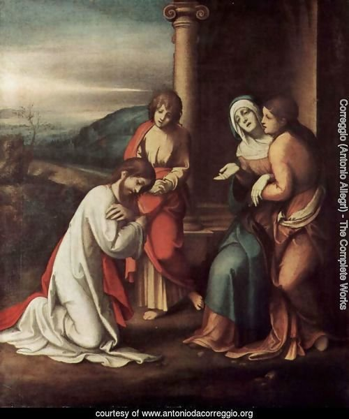 Goodbye Christ of Mary, with Mary and Martha, the sister of Lazarus