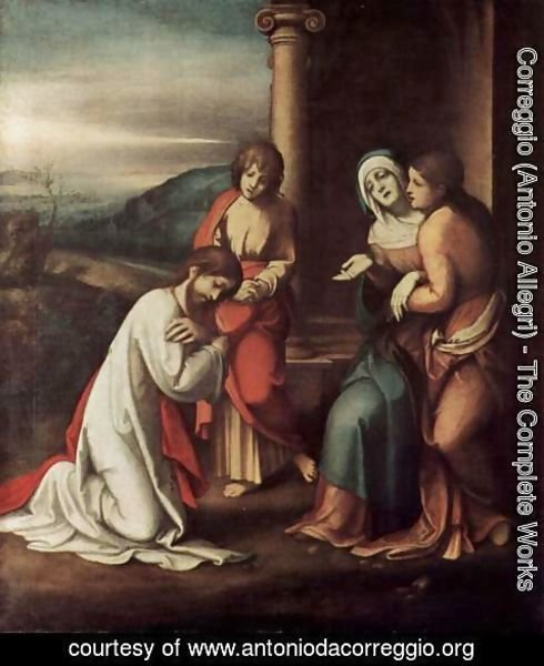 Correggio (Antonio Allegri) - Goodbye Christ of Mary, with Mary and Martha, the sister of Lazarus