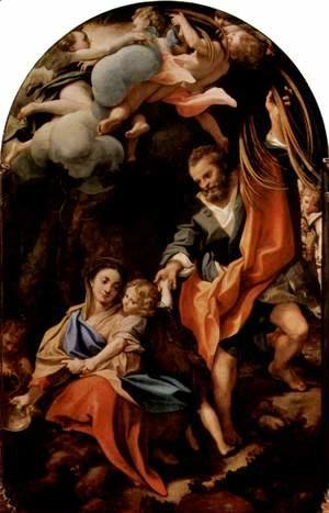 Madonna della Scodella, scene, resting on the flight to Egypt