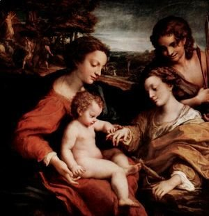 Correggio (Antonio Allegri) - Mystical Marriage of St. Catherine of Alexandria with Christ