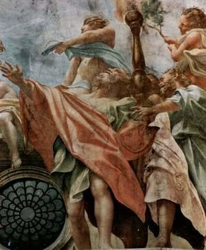 Correggio (Antonio Allegri) - Proclamation, detail, apostles and Epheben