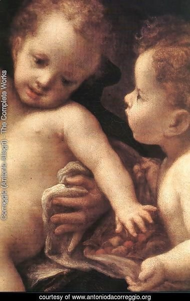Virgin and Child with an Angel (Madonna del Latte)(detail 2)
