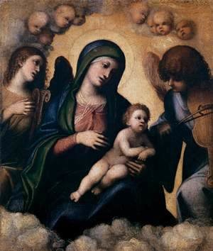 Correggio (Antonio Allegri) - Madonna and Child in Glory