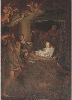 Correggio (Antonio Allegri) - The Adoration of the Shepherds
