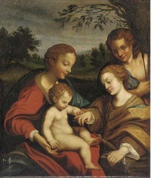 Correggio (Antonio Allegri) - The Mystic Marriage of Saint Catherine 2