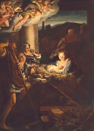 Correggio (Antonio Allegri) - Adoration of the Shepherds (The night)