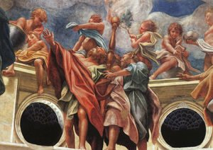 Correggio (Antonio Allegri) - Assumption Of The Virgin  Detail Of The Apostles