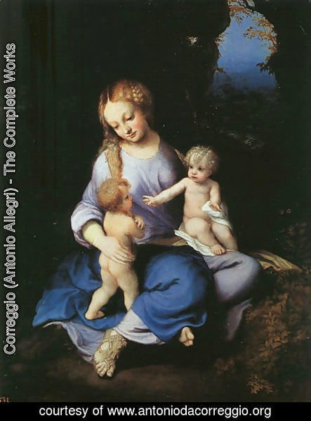 Correggio (Antonio Allegri) - Madonna and Child with the Young Saint John 1516