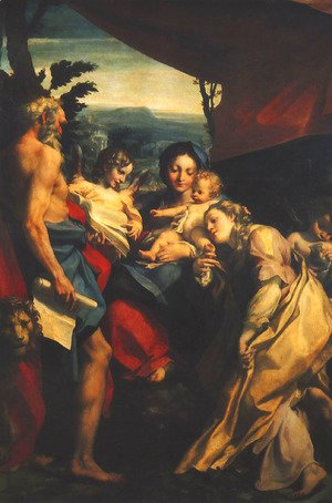 Correggio (Antonio Allegri) - Madonna and Child with Sts Jerome and Mary Magdalen (The Day) 1525