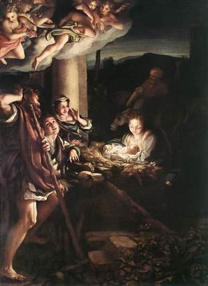 Correggio (Antonio Allegri) - Nativity (Holy Night) 1528