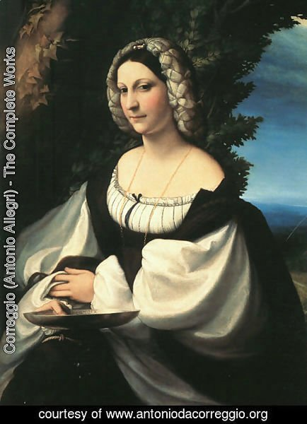 Correggio (Antonio Allegri) - Portrait of a Gentlewoman 1517
