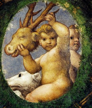 Correggio (Antonio Allegri) - Putto With Hunting Trophy