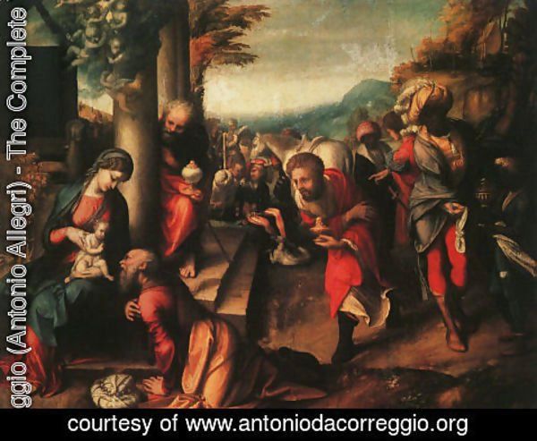 Correggio (Antonio Allegri) - The Adoration of the Magi 1516