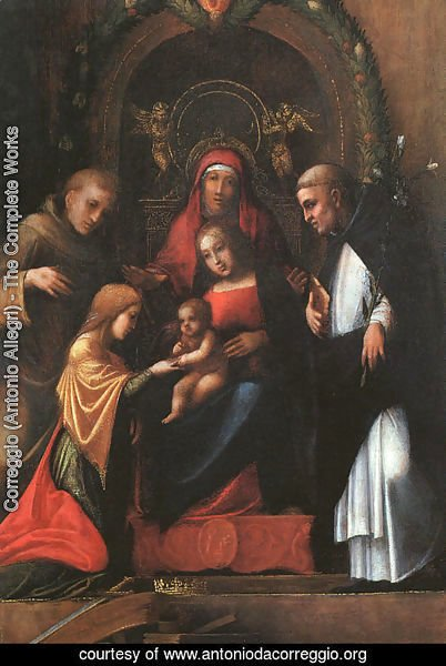 The Mystic Marriage of St. Catherine-2 1510