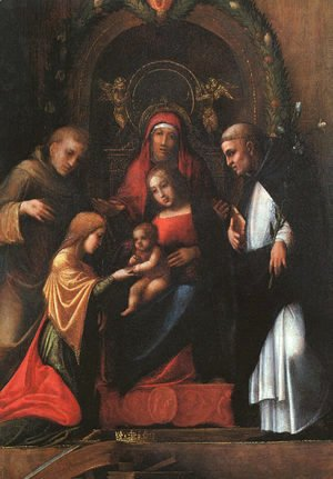 Correggio (Antonio Allegri) - The Mystic Marriage of St. Catherine-2 1510