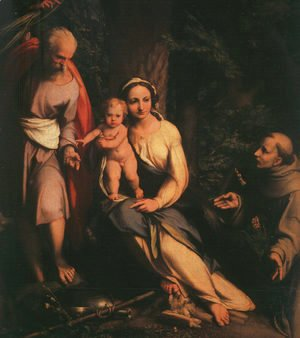 Correggio (Antonio Allegri) - The Rest on the Flight to Egypt with Saint Francis 1517,