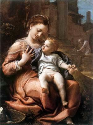 Correggio (Antonio Allegri) - Madonna of the Basket 1524